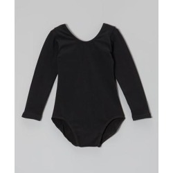 Wenchoice Girls' Leotards BLACK - Black Long-Sleeve Leotard - Infant, Toddler & Girls found on Bargain Bro India from zulily.com for $11.99