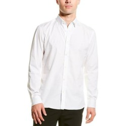 Burberry Monogram Motif Stretch Poplin Slim Fit Woven Shirt (L), Men's, White found on Bargain Bro from Overstock for USD $284.23