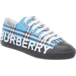Burberry Check Canvas Sneaker (36), Women's, Blue found on MODAPINS from Overstock for USD $483.99