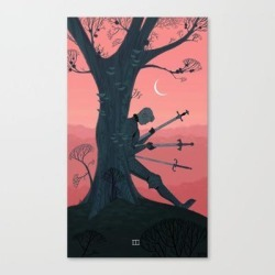 3 Of Swords Canvas Print by Sara Kipin - LARGE found on Bargain Bro from Society6 for USD $106.39