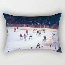 Rectangular Pillow | Vintage Hockey Match by Colorfuldesigns - Small (17