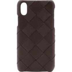 Intrecciato Leather Iphone Xs Case - Brown - Bottega Veneta Cases