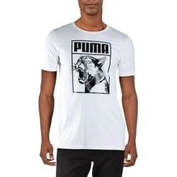 Puma Mens T-Shirt Fitness Workout - Puma White/Puma Black - M (Puma White/Puma Black - M), Men's(cotton) found on Bargain Bro from Overstock for USD $11.62