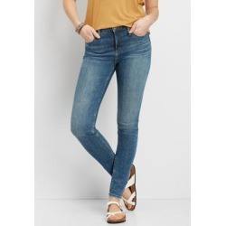 Silver Jeans Co.® Womens High Note High Rise Dark Wash Skinny Jean Blue Denim - Size 27 - Maurices found on Bargain Bro from Maurices for USD $15.18