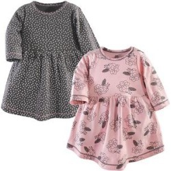 Yoga Sprout Girls' Casual Dresses Feather - Pink Feather Floral Dress Set - Newborn, Infant, Toddler & Girls found on Bargain Bro Philippines from zulily.com for $10.72