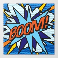 Canvas Print | Boom Comic Book Pop Art Fun Cool Graphic by Thisisnotme - LARGE - Society6 found on Bargain Bro Philippines from Society6 for $133.69