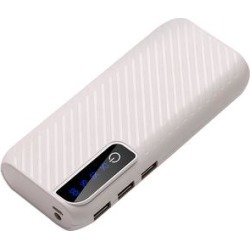 Tech Zebra Portable Chargers White - White Three-Port USB Power Bank & Flashlight found on Bargain Bro Philippines from zulily.com for $14.99