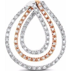 Diamond Loop Pendant 14k Gold - Metallic - Cosanuova Necklaces found on Bargain Bro from lyst.com for USD $326.80