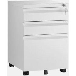 Inbox Zero Estela Office 3-Drawer Vertical Filing Cabinet Metal/Steel in White, Size 22.83 H x 18.11 W x 15.35 D in | Wayfair found on Bargain Bro Philippines from Wayfair for $179.99