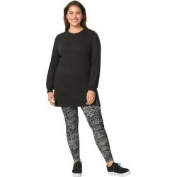 Plus Size Women's Leggings by ellos in Black White Fern (Size 1X) found on Bargain Bro Philippines from Ellos for $18.90