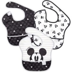 Bumkins Bibs Mickey - Mickey Mouse Black & White 'Love' SuperBib Set found on Bargain Bro India from zulily.com for $14.79