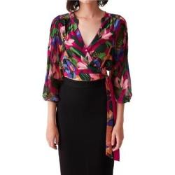 Irene Silk Wrap Blouse - Black - Diane von Furstenberg Tops found on MODAPINS from lyst.com for USD $338.00