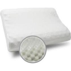 Maison Blanche-Massage Memory Foam Contour Pillow - White (Medium - Mid Loft - Single - Standard) found on Bargain Bro from Overstock for USD $23.93