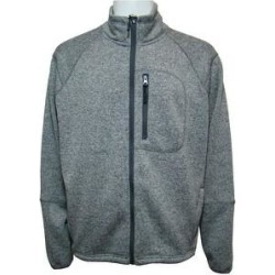 Victory Outfitters Men's Long Sleeve Fleece Full Zip Jacket (3XL - Grey), Gray found on Bargain Bro from Overstock for USD $30.39