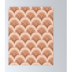 Mini Art Print | Palm Leaves Arch Pattern - Rust, Terracotta, Clay, Desert, Boho, Ombre by Design Da'annick - Without Stand - 3