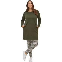 Plus Size Women's Leggings by ellos in Black Ivory Snake (Size L) found on Bargain Bro Philippines from Ellos for $18.90