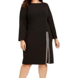 Calvin Klein Women's Dress Black Size 20W Plus Sheath Bling Slit (20W)(polyester) found on Bargain Bro from Overstock for USD $44.82