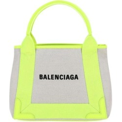 Logo Print Tote Bag - Yellow - Balenciaga Totes found on Bargain Bro from lyst.com for USD $589.00
