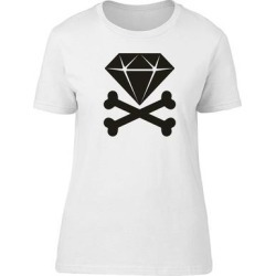 Diamond Crossed Bones Jewelry Tee Women's -Image by Shutterstock (XXL), White found on Bargain Bro Philippines from Overstock for $15.19