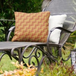 Rockport Color Contrast Basketweave Indoor/Outdoor Pillow by Havenside Home (18 x 18 - Red & Yellow - UV Resistant), Multicolor(Synthetic Fiber, found on Bargain Bro Philippines from Overstock for $59.99