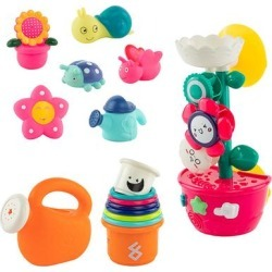 9 Piece Bath Toys for Toddlers Flower Squirter Toys