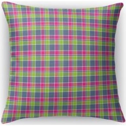 LOVE POTION 1 PLAID Accent Pillow by Kavka Designs (26X26), Pink(Polyester)