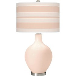 Linen Bold Stripe Ovo Table Lamp found on Bargain Bro Philippines from LAMPS PLUS for $159.99