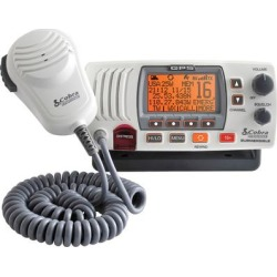 Cobra MR F77W GPS Marine VHF Radio, Rewind and GPS, White found on Bargain Bro India from Crutchfield for $209.99