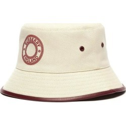 Leather Trim Logo Canvas Bucket Hat - Natural - Burberry Hats found on Bargain Bro from lyst.com for USD $421.80