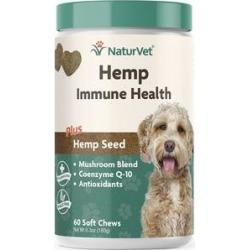 NaturVet Hemp Immune Health Plus Hemp Seed Dog Soft Chews, 60 count