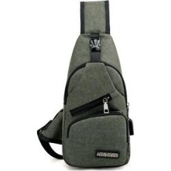 Men's Charge Bag (Army green)(polyester)
