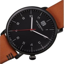 Men's Roma Moderna Leather Strap Watch - Black - Bruno Magli Watches found on Bargain Bro India from lyst.com for $140.00