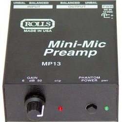 Rolls MP13 Mini-Mic Preamp MP13 found on Bargain Bro Philippines from B&H Photo Video for $56.00