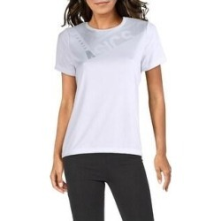 Asics Womens T-Shirt Tennis Fitness - White/Grey (L), Women's, White/Gray(polyester) found on MODAPINS from Overstock for USD $12.13