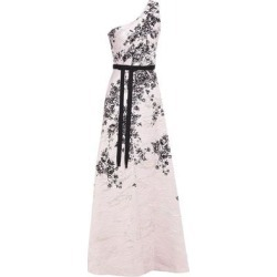 One-shoulder Metallic Floral-print Jacquard Gown Pastel Pink - Pink - Marchesa notte Dresses found on MODAPINS from lyst.com for USD $383.00