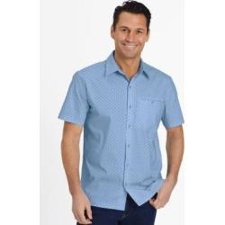 Men's John Blair Pin-Dot Sport Shirt, Chambray Blue M found on Bargain Bro from Blair.com for USD $16.71