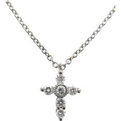 Diamond Mini Cross Necklace (nordstrom Exclusive) - Metallic - Bony Levy Necklaces found on Bargain Bro from lyst.com for USD $452.20