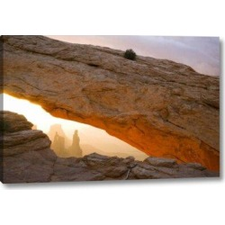 Millwood Pines 'Ut, Canyonlands Np Washer Woman Through Mesa Arch' Photographic Print on Wrapped Canvas Canvas & Fabric in Brown   Wayfair found on Bargain Bro Philippines from Wayfair for $85.99