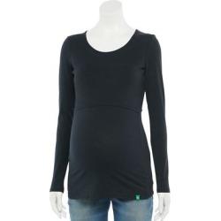 Maternity Modern Eternity Crewneck Long Sleeve Nursing Top, Women's, Size: Large-Mat, Black