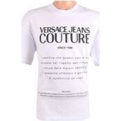 petite Versace Jeans Couture Pure Cotton Relaxed Label Design Short Sleeve T-Shirt - (XXL), Men's, White found on Bargain Bro from Overstock for USD $82.76