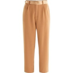 Contrast Belt Trousers In Camel - Brown - Paisie Pants found on MODAPINS from lyst.com for USD $98.00