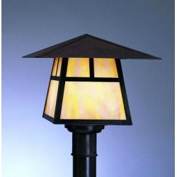 Arroyo Craftsman Carmel 7 Inch Tall 1 Light Outdoor Post Lamp - CP-8H-AM-VP found on Bargain Bro from Capitol Lighting for USD $261.44