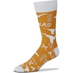 """For Bare Feet Texas Longhorns Wall to Crew Socks"""