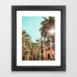 Framed Art Print | Spanish Village by M.henina - Vector Black - X-Small-10x12 - Society6