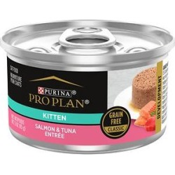 Purina Pro Plan Savor Classic Salmon & Tuna Grain-Free Kitten Entree Canned Cat Food, 3-oz, case of 24