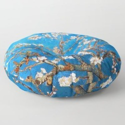 Floor Pillow   Vincent Van Gogh - Almond Blossom by Ablemable - ROUND - 30