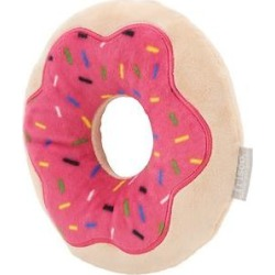 Frisco Strawberry Frosted Donut Dense Foam Squeaky Dog Toy, Large found on Bargain Bro Philippines from Chewy.com for $7.98