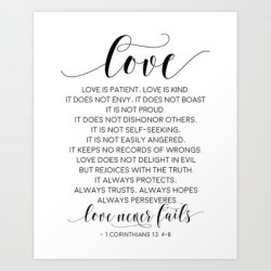 Definition Of Love, Love Is Patient Love Is Kind,love Quote,love Art,love Gift,darling Gift,love You Art Print by Typohouse - X-Small