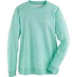 Women's Plus Print Better-Than-Basic Fleece Sweatshirt, Beach Glass Dot 2XL found on Bargain Bro Philippines from Blair.com for $28.99