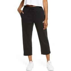 Sportswear High Waist Crop Sweatpants - Black - Nike Pants found on Bargain Bro from lyst.com for USD $45.60